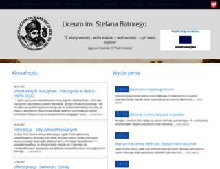 batory.edu.pl screenshot