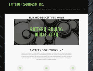 batterysolutionsinc.com screenshot