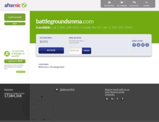 battlegroundsmma.com screenshot