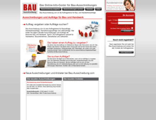 bau-ausschreibung.com screenshot