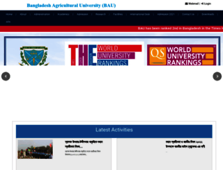 bau.edu.bd screenshot
