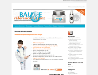 baume-referencement.com screenshot