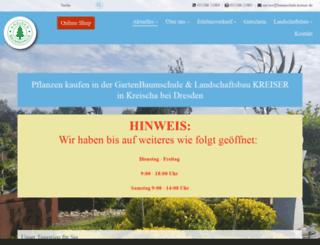 baumschule-sachsen.de screenshot