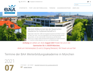 bayerische-akademie.de screenshot