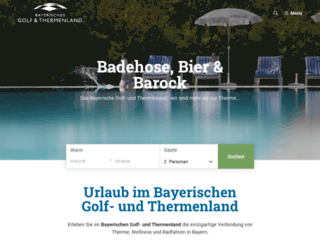 bayerisches-golf-und-thermenland.de screenshot