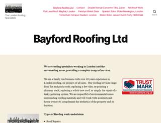 bayfordroofing.co.uk screenshot