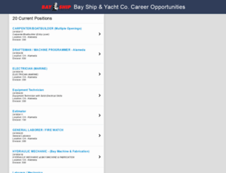 bayship.jobinfo.com screenshot