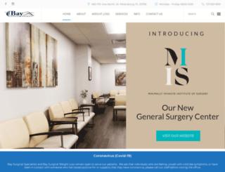baysurgicalspecialists.com screenshot