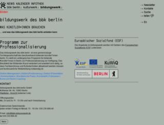 bbk-bildungswerk.de screenshot