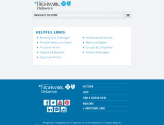 bcbsde.com screenshot