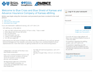 bcbsks.secureebilling.com screenshot