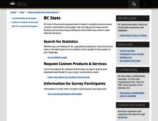 bcstats.gov.bc.ca screenshot