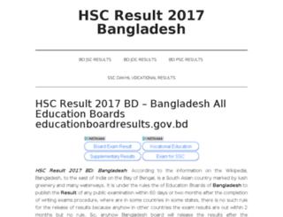 bdhscresults2017.com screenshot
