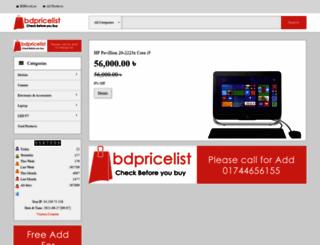 bdpricelist.com screenshot