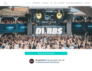 beachclub.com screenshot