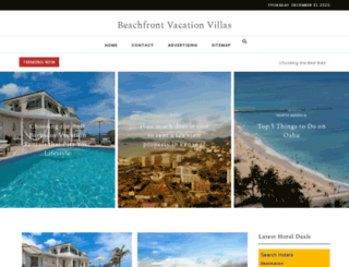 beachfrontvacationvillas.com screenshot