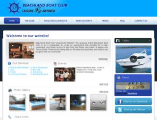beachlandboatclub.com screenshot