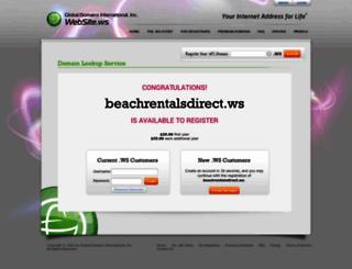 beachrentalsdirect.ws screenshot