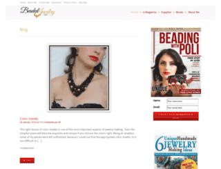 beadedjewelryart.com screenshot