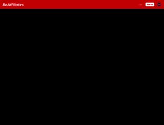 beaffiliates.com screenshot