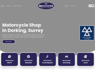 beakysmotorcycles.com screenshot