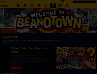 beanotown.com screenshot