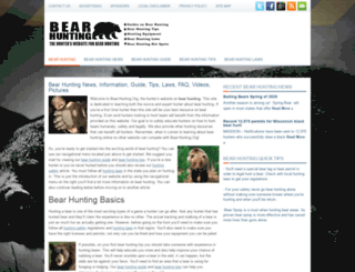 bear-hunting.org screenshot