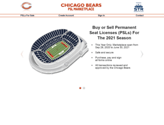 bears.seasonticketrights.com screenshot