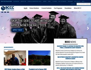 beaufortccc.edu screenshot
