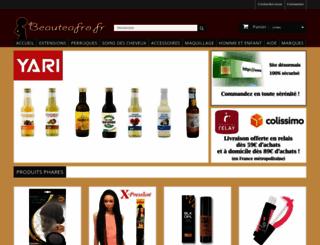 beauteafro.fr screenshot