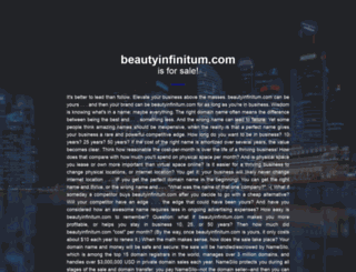 beautyinfinitum.com screenshot
