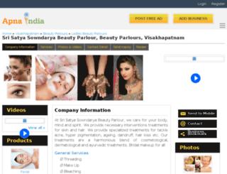 beautyparlour-visakhapatnam.apnaindia.com screenshot