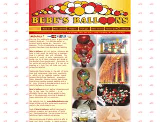 bebesballoons.com screenshot