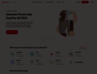 becas-santander.com screenshot