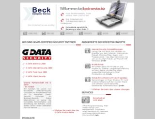 beck-service.biz screenshot