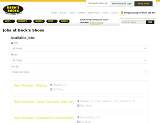 becksshoes.hireology.com screenshot