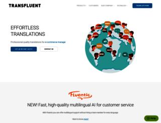 become.transfluent.com screenshot