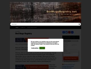 bedbugsregistry.net screenshot