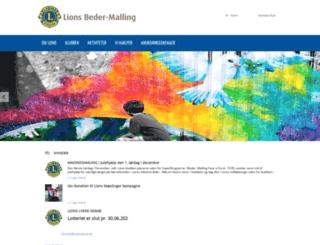 beder-malling.lions.dk screenshot