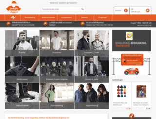 bedrijfskledingshop.nl screenshot