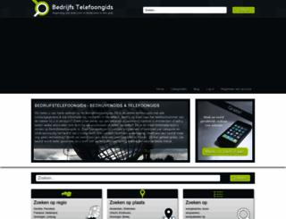 bedrijfstelefoongids.nl screenshot
