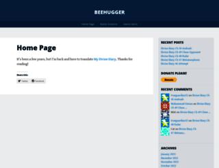 beehugger.wordpress.com screenshot