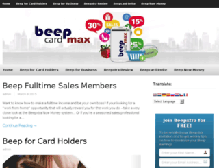 beepcardmax.com screenshot