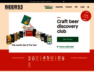 beer52.co.uk screenshot