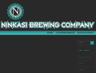 beergear.ninkasibrewing.com screenshot