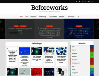 beforeworks.com screenshot