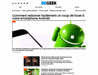 begeek.fr screenshot