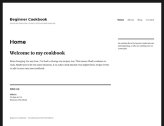 beginnercookbook.com screenshot