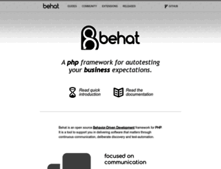 behat.org screenshot