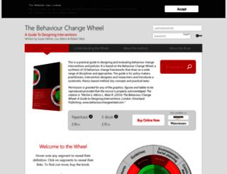 behaviourchangewheel.com screenshot
